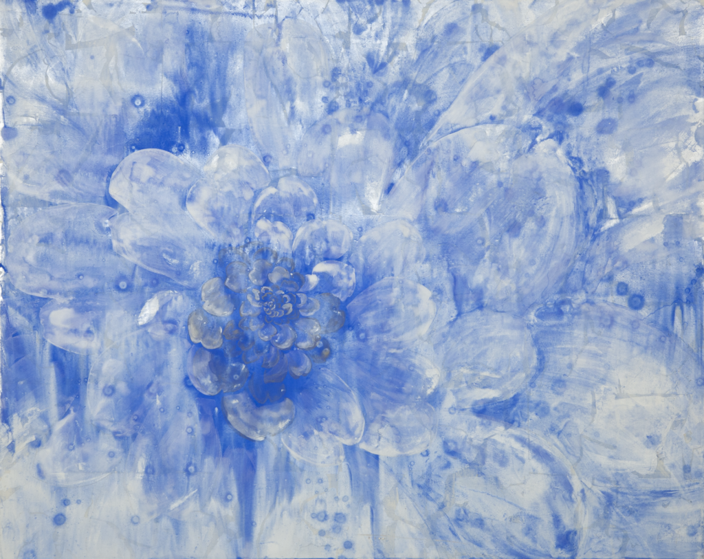 Spiral-a blue flower