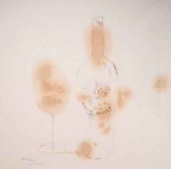 Wine drawing -Harlan Estate 1991-